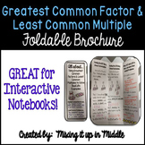 Greatest Common Factor & Least Common Multiple Brochure for Notebooks