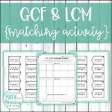 GCF & LCM Greatest Common Factor & Least Common Multiple M