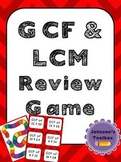 Greatest Common Factor & Least Common Multiple Review Game