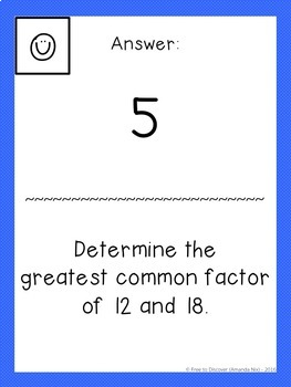 Greatest Common Factor & Least Common Multiple Scavenger Hunt