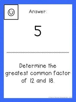 Greatest Common Factor & Least Common Multiple Activity - Scavenger Hunt