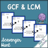 Greatest Common Factor & Least Common Multiple Activity - Scavenger Hunt