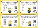 Greatest Common Factor & Least Common Multiple Task Cards - BUNDLE!!
