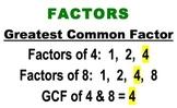 Greatest Common Factor & Least Common Multiple Visual