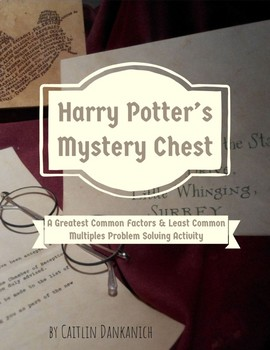 Greatest Common Factor & Least Common Multiples Word Problems Harry Potter Theme