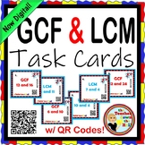 Greatest Common Factor / Lowest Common Multiple Task Cards
