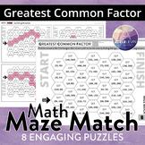 Greatest Common Factor (MATH MAZE MATCH)