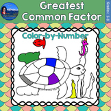Greatest Common Factor (GCF) Math Practice Under the Sea Color by Number