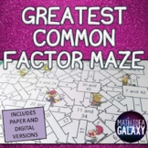 Greatest Common Factor Maze