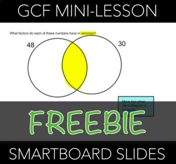 Greatest Common Factor Mini-Lesson