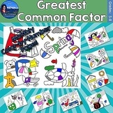 Greatest Common Factor (GCF) Monthly Color by Number Bundle