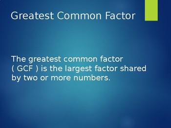 Greatest Common Factor - Notes & Independent Practice