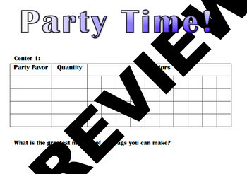 Greatest Common Factor- Party Time!