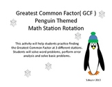 Greatest Common Factor Penguin Themed Station Rotation