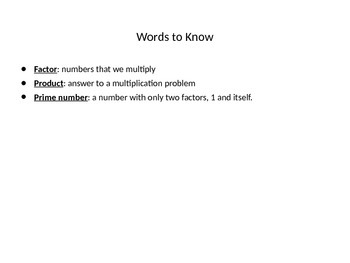 Greatest Common Factor Powerpoint
