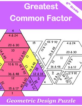 Greatest Common Factor Puzzle