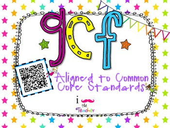 Greatest Common Factor **QR CODE Task Cards**