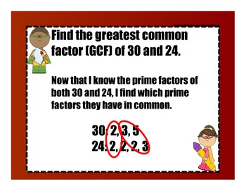 Greatest Common Factor {SMART Board Lesson, Independent Practice}