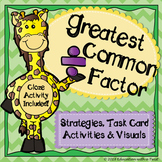 Greatest Common Factor Task Cards and Interactive Notebook