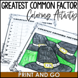 Thanksgiving Math Activity: Greatest Common Factory