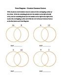Greatest Common Factor Venn Diagrams