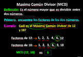 Greatest Common Factor Video Spanish