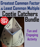 Greatest Common Factor and Least Common Multiple Games Bundle (GCF and LCM)