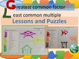 Greatest Common Factor and Least Common Multiple Lessons a