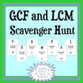 Greatest Common Factor and Least Common Multiple Scavenger Hunt