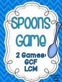 Greatest Common Factor and Least Common Multiple Spoons Game {2 Games}