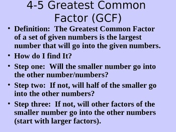 Greatest Common Factor applied to Algebra