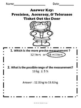Precision and Accuracy No Prep Lesson