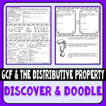 Greatest Common Factor & the Distributive Property Doodle Notes