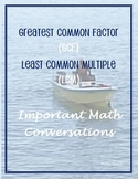 Greatest Common Factor vs.The Least Common Multiple
