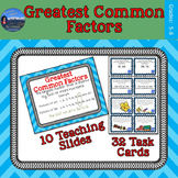 Greatest Common Factor Activity | GCF Task Cards