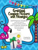 Greatest Common Factors (GCF) with Flamingos