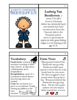 Greatest Composer Activities: Beethoven