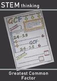 Greatest Highest Common Factor Factoring Doodle Sheet Review Worksheet