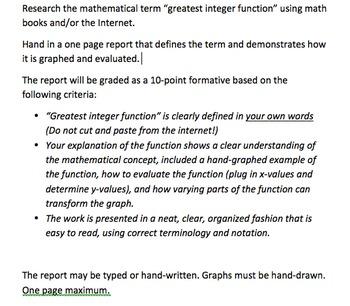 Greatest Integer Project Tutorial for ActivInspire/ActivStudio