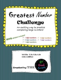 Greatest Number Challenge- A Game for Comparing and Ordering Numbers