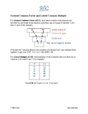 Greatest common factor and lowest common multiple