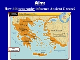 Grecian Geography - Introductory Powerpoint and Handout