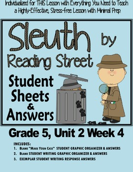 """Sleuth Reading Street, Gr. 5 Unit 2 Wk 4, The Summer's Trade, """"The Swap"""""""