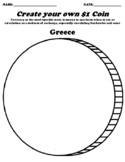 Greece $1 Coin Worksheet W/Currency Word Search