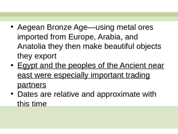 Greece: Aegean: Minoans and Mycenaean PPT/ Lecture