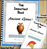 Greece Ancient Civilizations Travel Brochure & Important Book