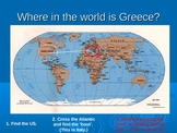 Greece Architecture and Map Location Power point