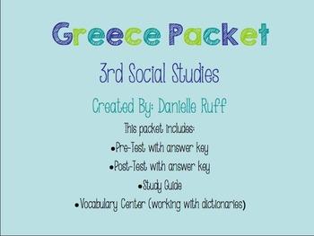 Greece Assessment Packet