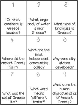 Greece BINGO Game
