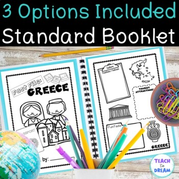 Greece Country Research Project, PBL:Interactive Lapbook and Notebook